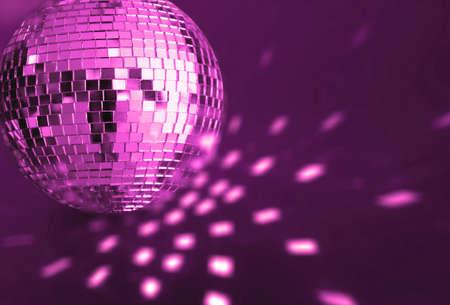 70s disco: big silver disco ball