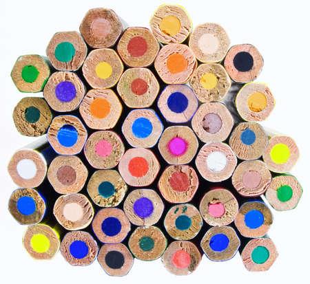 color pencil ends Stock Photo - 2585096