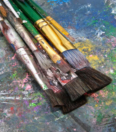 art and stuff paint brushes  photo