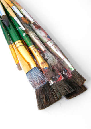 art paint brushes on art paper  photo