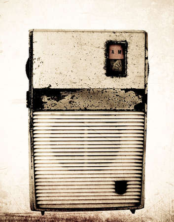 old radio ( retro inspired  color )  photo