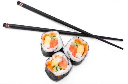 chopsticks an sushi
