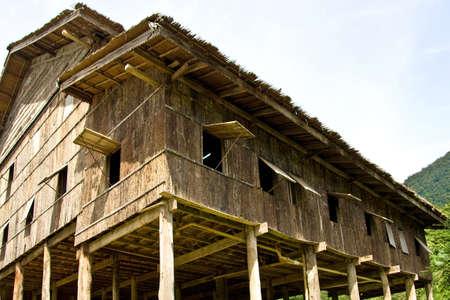 longhouse in sarawak ( borneo )