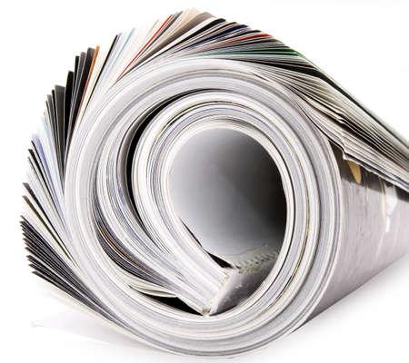 rolled up magazine Stock Photo - 3270446
