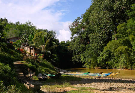 longhouse  in sarawak Stok Fotoğraf - 3324489