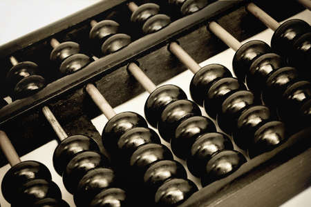 economic revival:       old Abacus close-up