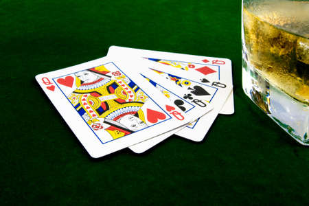 cards and whiskey