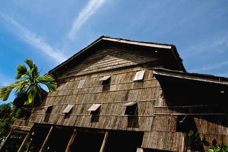 culture: longhouse in sarawak borneo