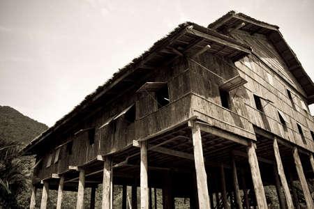 ボルネオ島サラワクのロングハウス