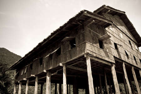 longhouse in sarawak borneo Imagens - 3562634