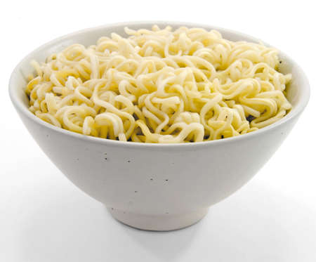 eating noodles:  a bowle of noodles  Stock Photo