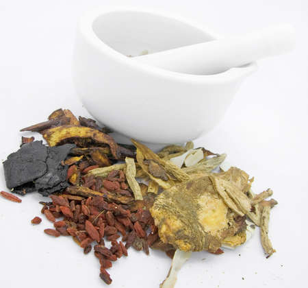 dried herb: tcm chinese  medicine  Stock Photo
