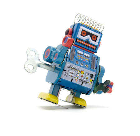 tin robot:  old robot toy