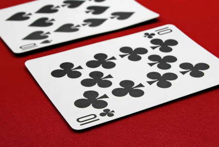 blackjack:  two tens (blackjack ) Stock Photo