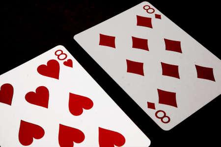 Split Eights in blackjack  Standard-Bild - 3673383