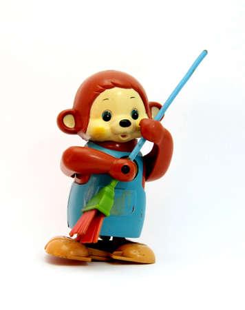 猿、古いおもちゃ
