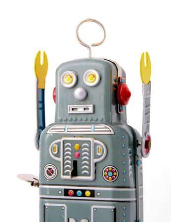 old robot toy photo