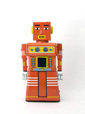 retro robot toy photo