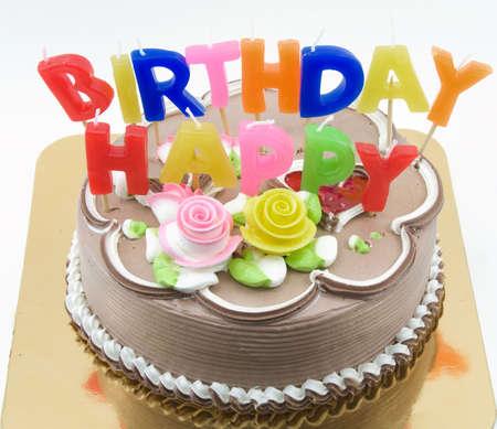 大きな誕生日ケーキ 写真素材
