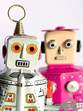 two robot toys photo