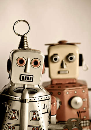 tin robot: two retro robot toys