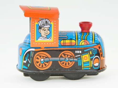 old tin train
