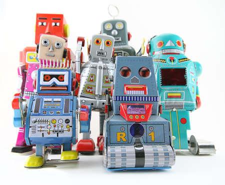 trabajo social: juguetes robot