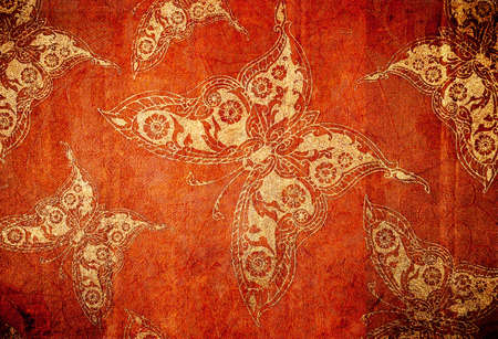 old wallpaper with butterflys Banque d'images