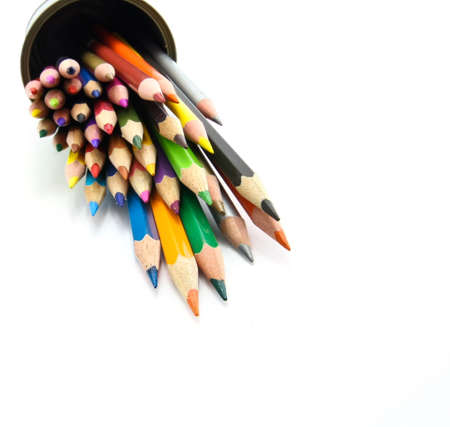 a selection of color pencils Imagens
