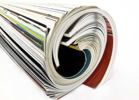 rolled up magazine Stock Photo - 4300956