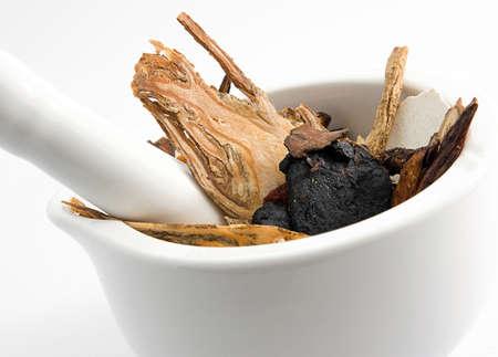 medicina tradicional china: combinaci�n de la medicina china Foto de archivo