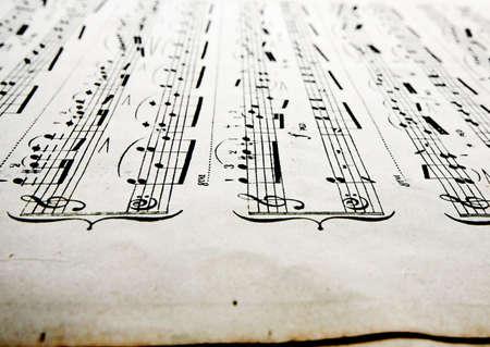 sheet music: old sheet music  Stock Photo
