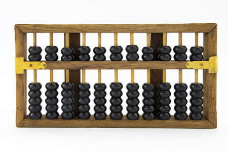 funding of science: old Chinese abacus  Stock Photo