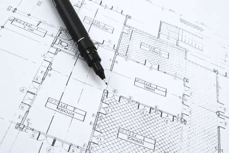 architect tools: plans and pen