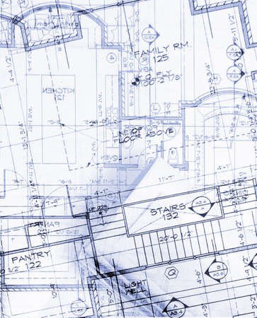 construction project: abstract house plans