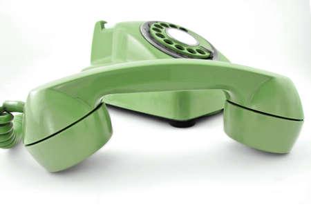 dialplate: old  green phone