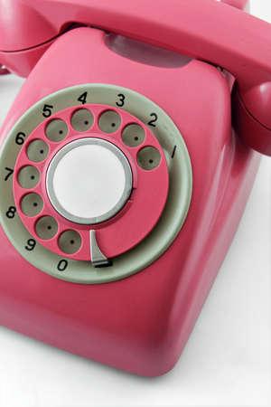 dialplate: old pink phone