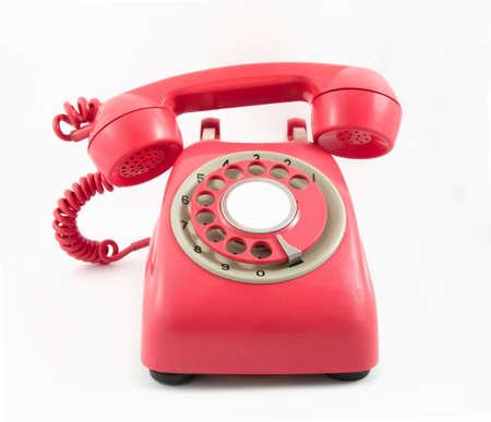 retro old red phone