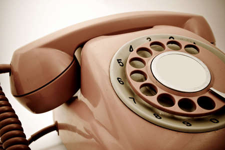 rotary dial telephone: old retro phone
