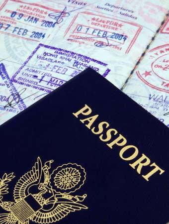 pasaportes: pasaporte Foto de archivo