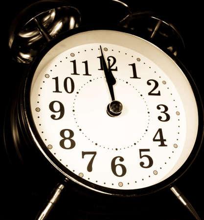retro alarm clock night time  photo