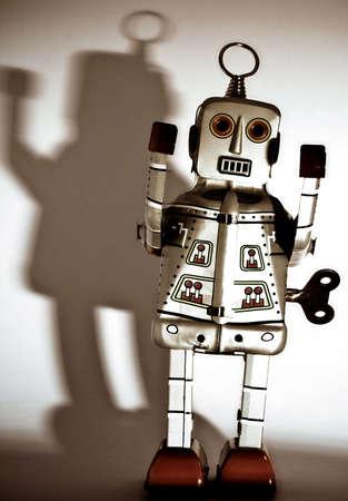 retro robot toy photo
