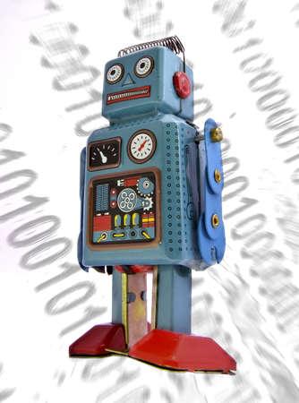 retro robot concept