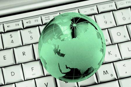 green world on laptop Stock Photo - 5152159