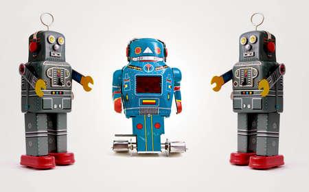 tree retro robots Banque d'images
