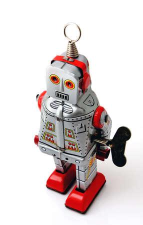un used: retro robot toy