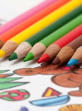 pencils and chrismass cards Stock Photo - 5630949