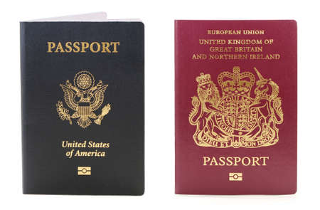 two biometric passport  one usa and  the other British photo