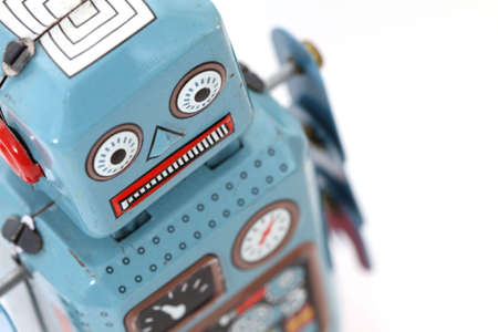 juguetes antiguos: robot  Foto de archivo