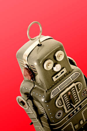 tin robot: retro robot toy